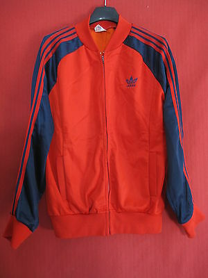 Veste Vintage Adidas Ventex Rouge made in France 70'S Rétro Jacket - S