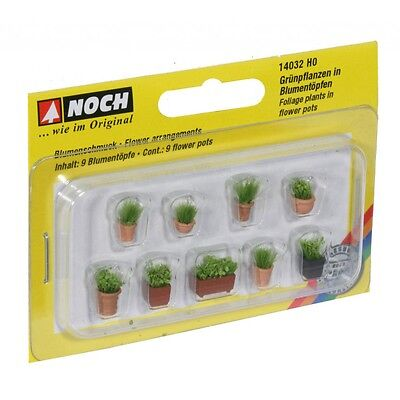 NOCH 14032 H0 1:87 Green plants in small flower pots new original packaging