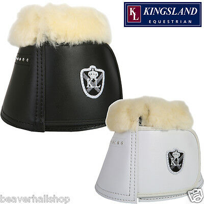Kingsland Over Reach Bell Boots Sheepskin Dressage WITH CRYSTALS RRP £58 *SALE*
