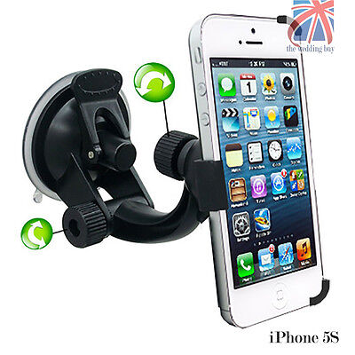 360°Rotating Windshield Suction Car Holder Mount Cradle Dash For Apple iPhone 5S