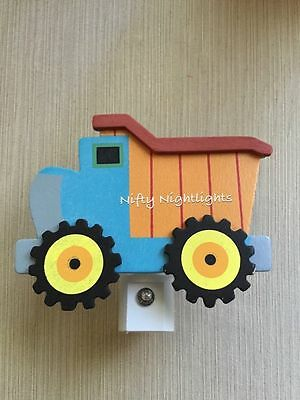 Nursery Night Lights - Night Light, Baby Shower, Dump Truck Auto On/Off Sensor