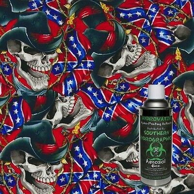 Hydrographic Film Water Transfer Hydro Dip 6Oz. Activator With Cowboy Skull Kit
