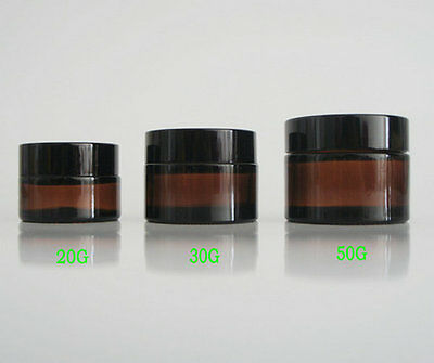 10G 20G 30G 50G amber glass cream jar,cosmetic container, glass bottles