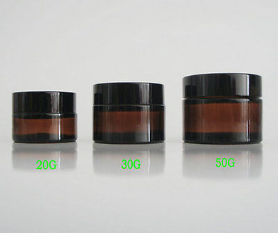 5G 10G 20G 30G 50G amber glass cream jar cosmetic container glass bottle 1PCS