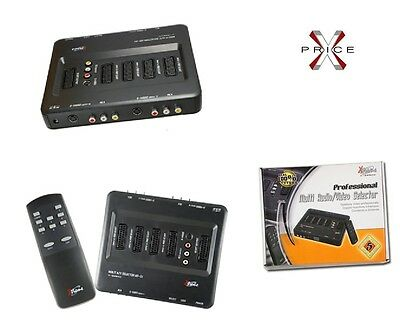 Selettore audio video MULTISCART 7 INGRESSI TELECOMANDO e DISPLAY professionale