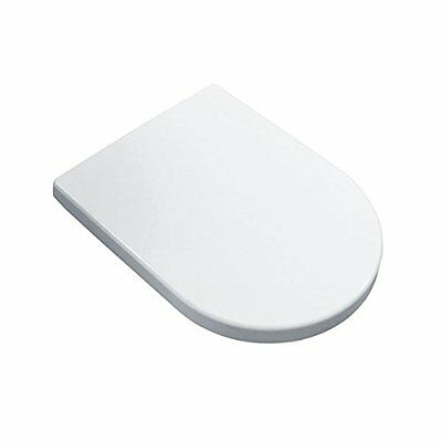 Toilet Seat D-SHAPE - Soft Close White wc Stable Comfort With Top Fixing Hinges