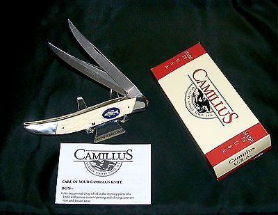 """Camillus #32 Knife American Wildlife Texas Toothpick """"Pewter Bass"""" W/Packaging"""