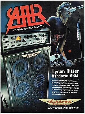 Ashdown Engineering - Tyson Ritter of All-American Rejects (2006) Print Ad