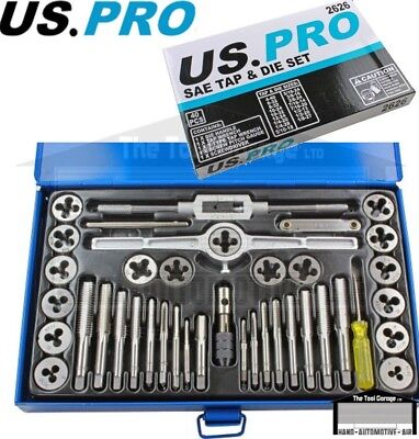BERGEN Tools 40pc SAE / Imperial Tap And Die Set NEW 2589