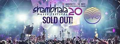 SHAMBHALA Music Festival 20th ANNIVERSARY!! Aug 11th 2017, SOLD OUT!!!