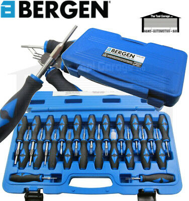 BERGEN Tools 23pc Master Universal Terminal Release Tool Kit NEW 6647