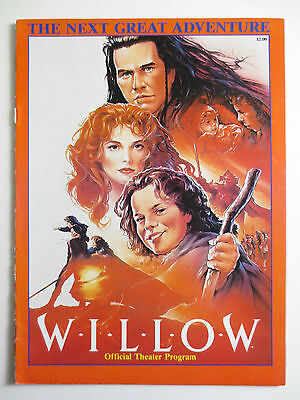 Willow Movie Official Theater Program Magazine George Lucas 1988 Ron Howard M701