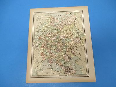 1893 Popular Atlas Map 1 page, Russia, Suitable to Frame, Color