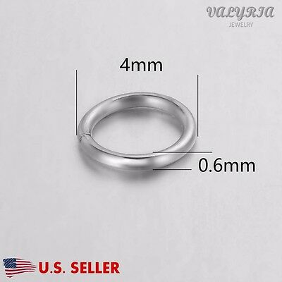 Wholesale Stainless Steel Open Jump Ring Jewelry Findings Craft 4mm Dia 23 Gauge
