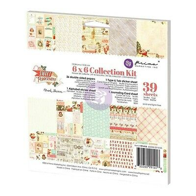Prima Marketing Sweet Peppermint Collection - 6 x 6 Collection Kit