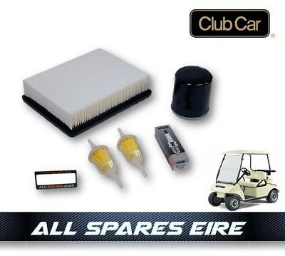 CLUB CAR DS GOLF CART BUGGY SERVICE KIT w OIL AIR & FUEL FILTERS PLUG 1992 UP