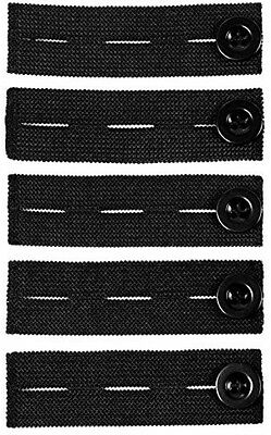 Elastic Pants Waist Extender 5-Pack - Strong Adjustable Pant Button Extenders