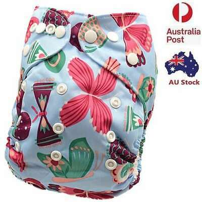 Brand New Modern Cloth Nappy Waterproof Outer Layer One Size Fit All (D117)