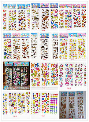 Wholesale!3D Puffy Kids Scrapbooking & Paper Crafts Party gift stickers lot