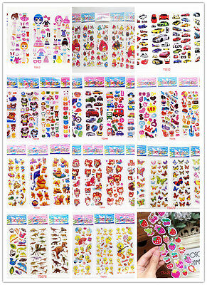kids Stereoscopic 3D Puffy Scrapbook Party Favors paper Crafts stickers lot gift
