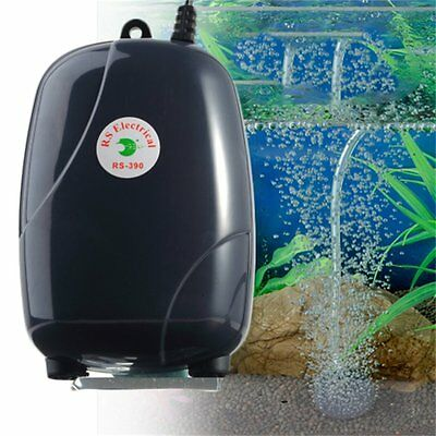 Efficient Two Outlets Air Pump 120 Gal Aquarium 48GPH 220V Super Silent HR