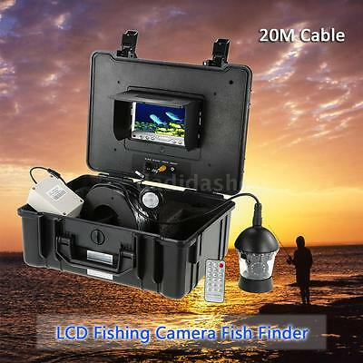 """20M 7"""" LCD 1000TVL Stainless Underwater 360° Camera Fish Finder Detector N7F5"""
