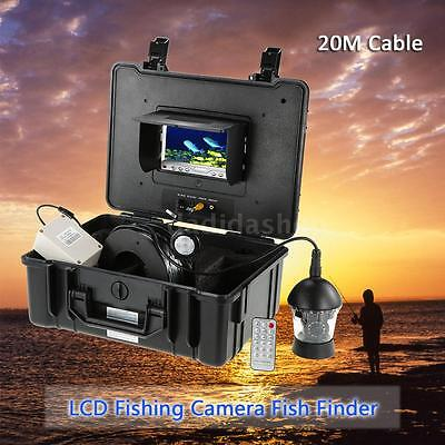 "20M 7"" LCD 1000TVL Stainless Underwater 360° Camera Fish Finder Detector N7F5"