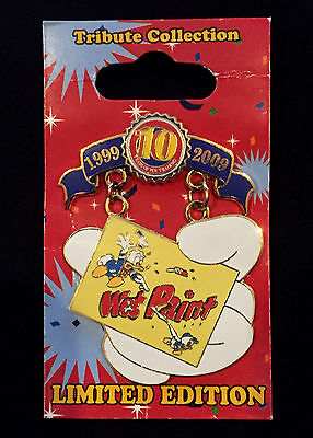 Wet Paint Pin Donald Duck *** 10Th Anniv Tribute *** Wdw *** Le Only 1000