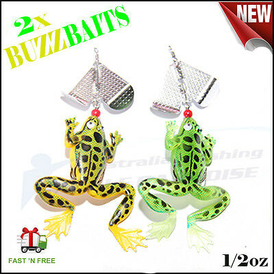 2x 1/2oz Buzzbaits Fishing Lures Spinner Baits Lure Spinnerbaits Bass Barra King