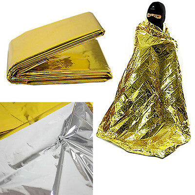 Foil Space Blanket Emergency Survival Blanket Thermal Rescue First Aid Gold