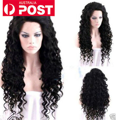 Long Wavy New Sexy Black Curly Cosplay Daily Women Hair Full Wig Heat Resistant