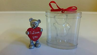 Little I Love You Metal Teddy In A Presentation Box