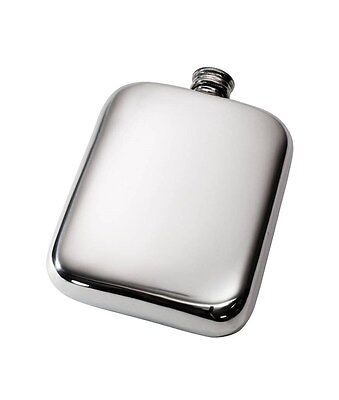 6oz Plain Pocket Pewter Hip Flask by Wentworth of Sheffield