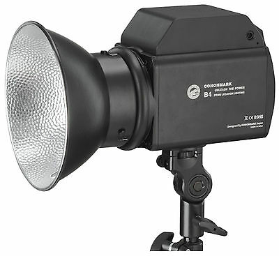 400W Comet Mount Portable Outdoor Flash Strobe Monolight w/ Battery Power Supply