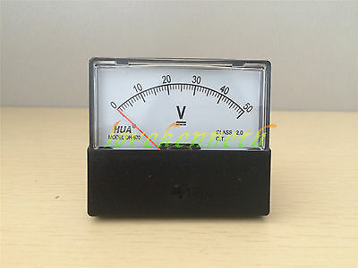 DH-670 Analog Volt Voltage Panel Meter Voltmeter From DC 0-15V To DC 0-300V