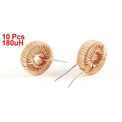 2x(10 pcs Toroid Core Inductor Wire WInd Wound 180uH 190mOhm 1A Coil SH