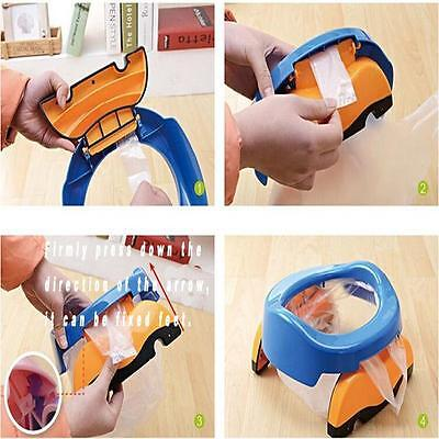 Novelty Baby Kids 2-in-1 Foldable Portable Travel Car Potty Chair Toilet Seat LH