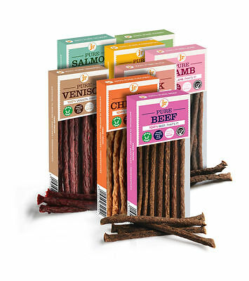 100% Pure Meat Natural Dog Treat Sticks - Various Flavours - Bulk Buy Packs