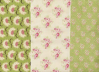 APPLE BLOOM ~ TILDA DECORATIVE SELF-ADHESIVE FABRIC PAPER x 3 SHEETS, NEW