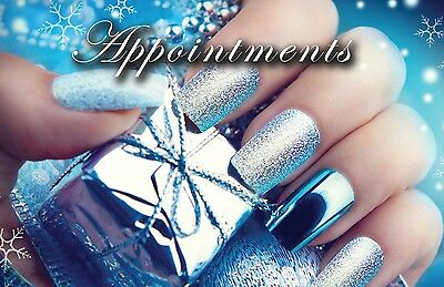 100 x  Festive Appointment Cards Manicure Nails Beauty & storage box FREE POST!