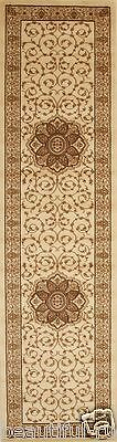 New Hall Runner Floor Rug 3 Meter Long Traditional Design Ivory FREE DELIVERY*