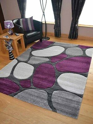 Thick Soft Quality Lt Silver Grey Purple Floor Mat Rugs Long Hall Runners Cheap