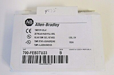 New Allen-Bradley 700-Feb3Tu23 Time Delay Relay On-Delay W/ 1 Spdt Contact Out