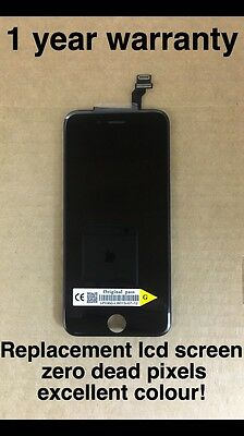 Genuine OEM Quality Replacement Lcd Screen For Original Apple iPhone 6 Black