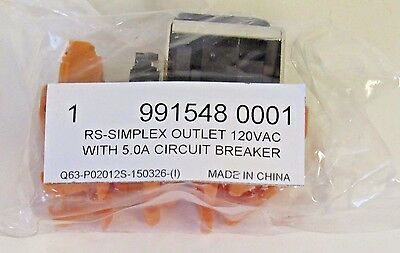 New Weidmuller Rs-Simplex 991548001 Single Ac Outlet 120Vac Din Rail Mount