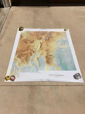 """Vintage 1988 Raven New Mexico Map Laminated 45"""" X 52"""""""