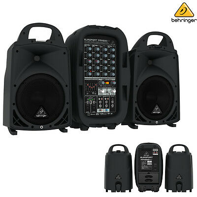 Behringer PPA500BT Europort 500W 6-Channel Bluetooth Portable PA System