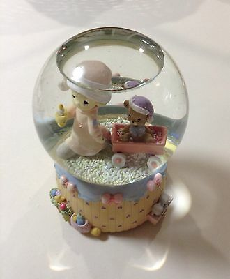 "PRECIOUS MOMENT 2000 ENESCO Musical Snow Globe ""We Wish You A Merry Christmas"""