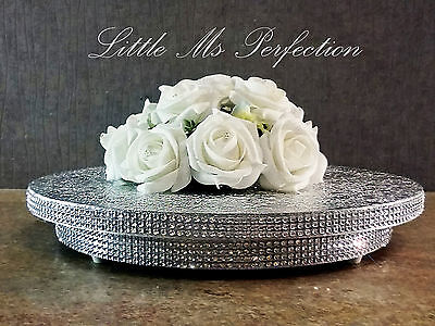 """Silver Gold Diamante Crystal Effect  Wedding Cake Stand Round Square 10""""- 22"""""""