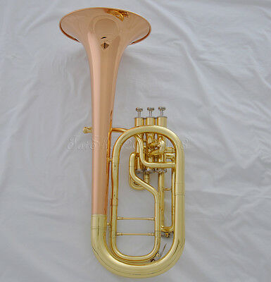 High Quality Gold Eb Rose brass Alto Horn with Case Mouthpiece